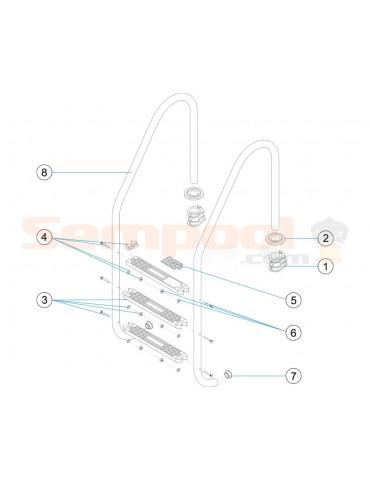 Escalera standard Astralpool